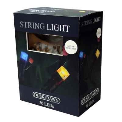 50 Multi Coloured LED Solar String Lights