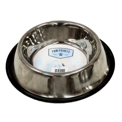 25cm Stainless Steel Non-Slip Dog Bowl