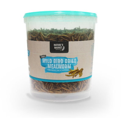 100g Tub Dried Mealworms Wild Bird Feed