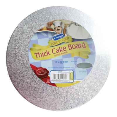 8 Inch (20cm) Round Thick Cake Board