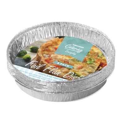 8 Pack of Small Foil Flan Dishes