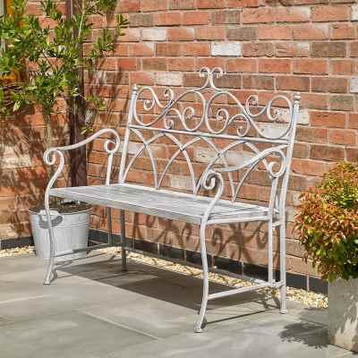 Grey Vintage Bench