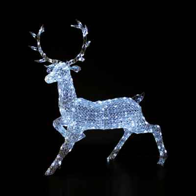 1.4m Crystal Reindeer with Bright White LEDs
