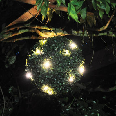 Solar Powered LED Topiary Ball