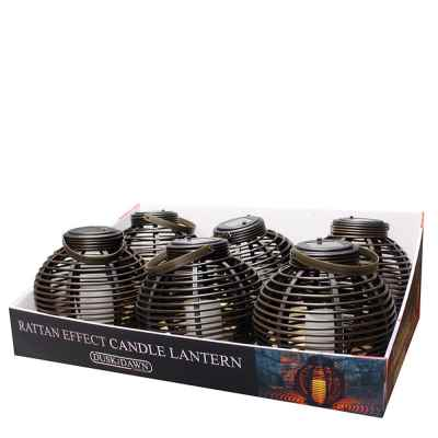 Solar Rattan Effect Candle Lantern Light