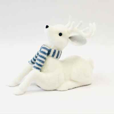 Large Sitting Reindeer with scarf