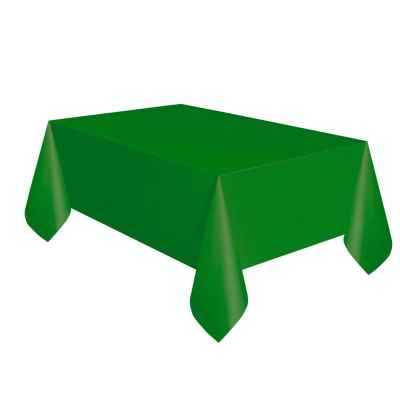 2 Pack of 120 x 120cm Green Plastic Table Covers