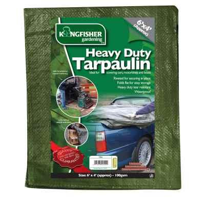 Heavy Duty Tarpaulin 1.8m(6ft)x1.2m(4ft) 100gsm