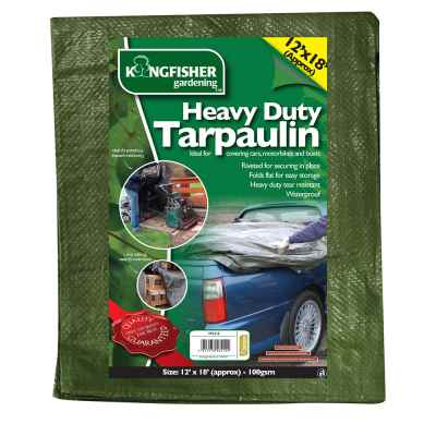 Heavy Duty Tarpaulin 3.7m(12ft)x5.5m(18ft) 100gsm