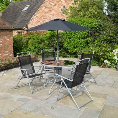6 Piece Deluxe Garden Furniture Patio Set