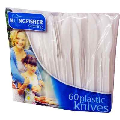60 Pack Plastic Knives