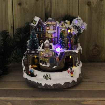 Christmas Train Scene LED and FO Lights with Sound