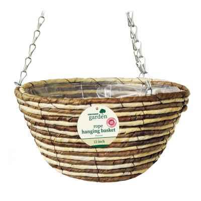 12in (30cm) Rope Hanging Basket