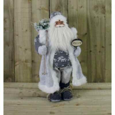 70cm Grey Standing Father Christmas