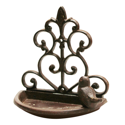Cast Iron Wall Mounted Bird Bath/Feeder