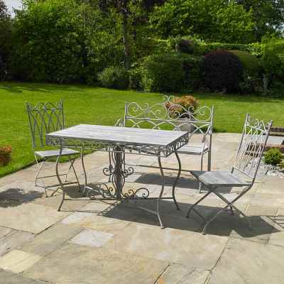 Grey Vintage 4 Piece Dining Set