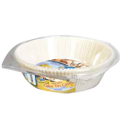 15 Pack of Round Cake Tin Cases