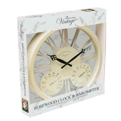 15 Inch White Rosewood Clock