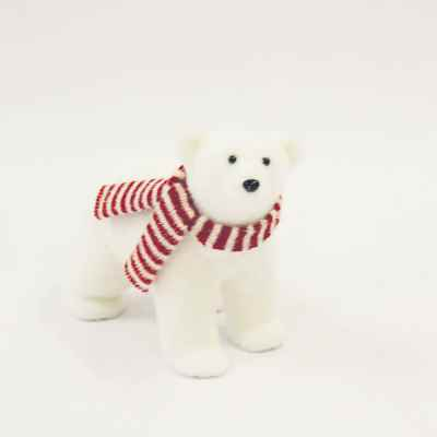 Sitting Polar Bear with Scarf