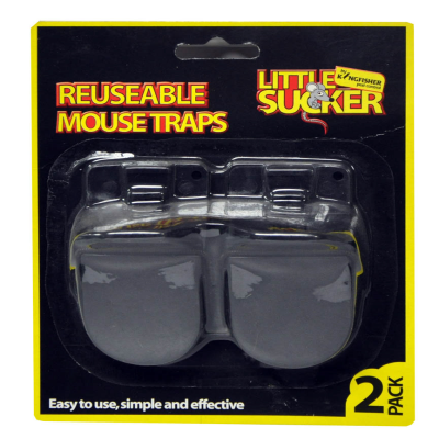 2 Pack Reusable Plastic Mouse Traps
