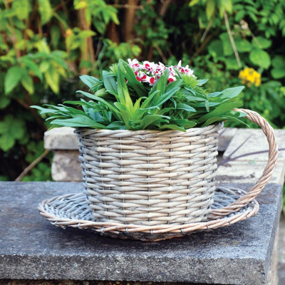 Wicker Coffee Cup Basket