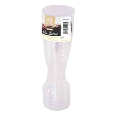 6 Pack Clear Plastic Wine Glasses