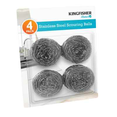 4 Pack Stainless Steel Scourers