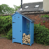 Wooden Garden Shed With Log Store
