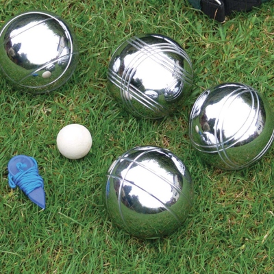 Steel French Boules Garden Game Set