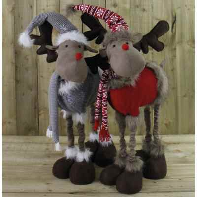 2 Assorted Large Telescopic Plush Reindeer