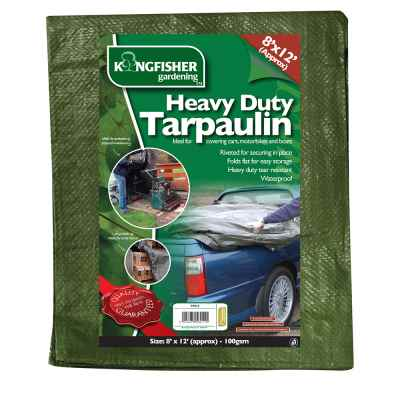 Heavy Duty Tarpaulin 2.4m(8ft)x3.7m(12ft) 100gsm