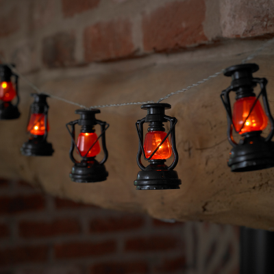 10 Miners Lantern Battery Powered String Light