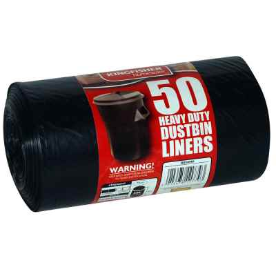 50 Pack of Black Quality 75L Refuse Sacks