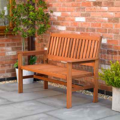2 Seater Hardwood Garden Patio Bench