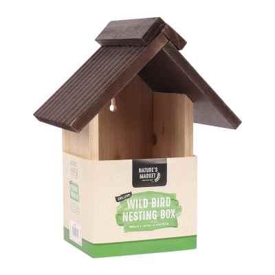 Deluxe Wooden Bird Nesting Box