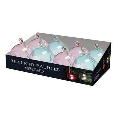 Coloured Bauble Tea light holder