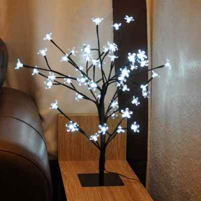 85cm White Blossom LED Bonsai Tree
