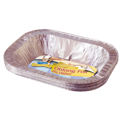 6 Pack of Oblong Foil Pie Dishes