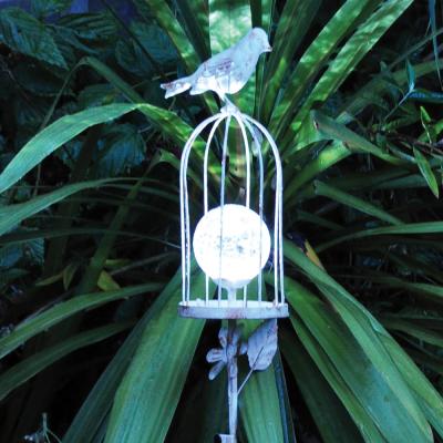 Solar Bird Crackle Stake Light
