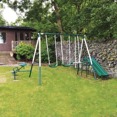 5 Piece Outdoor Garden Swing Slide Seesaw Playset