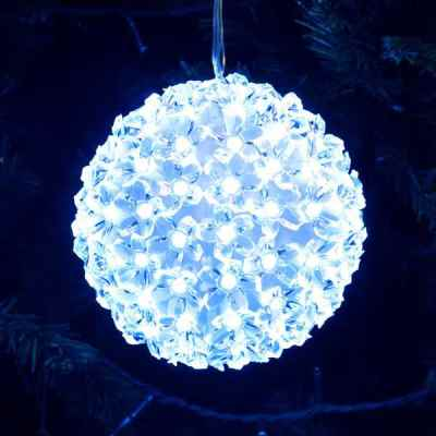 Winter Blue Multi Action LED Snow Ball Light