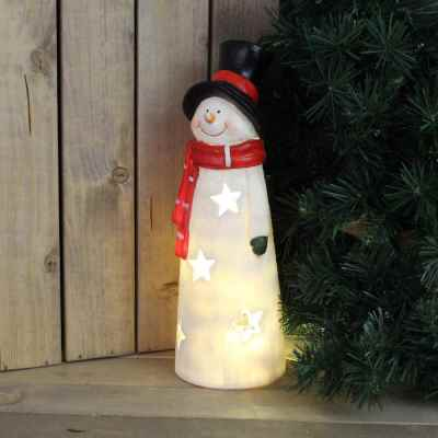 31cm Snowman Candle Holder