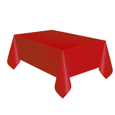 Red Paper Table Cloth with Plastic Backing