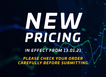 Important - New Pricing