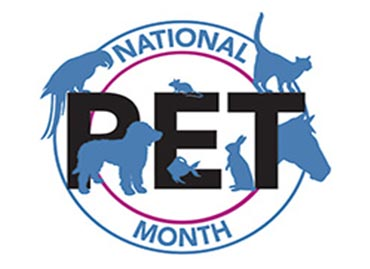 National Pet Month - 1st April - 7th May 2018