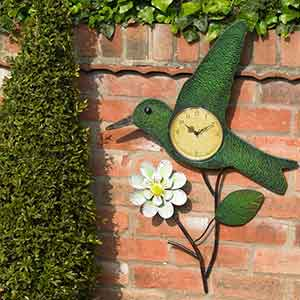 Humming bird and flower clock