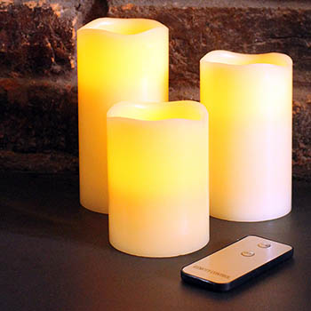 3 Flame Free Battery Operated Candles