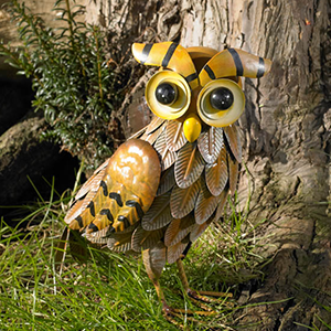Metal Owl Garden Ornament