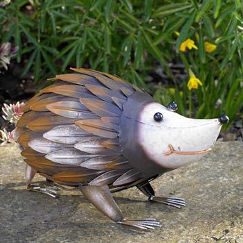 metal hedgehog garden ornament